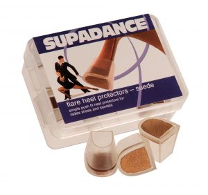 Supadance Flare & Cuban Heel Protectors with a Suede Base