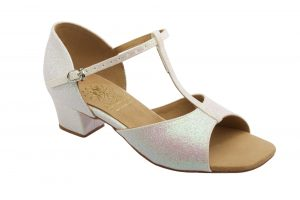 1007 Silver Girl's dance Shoe