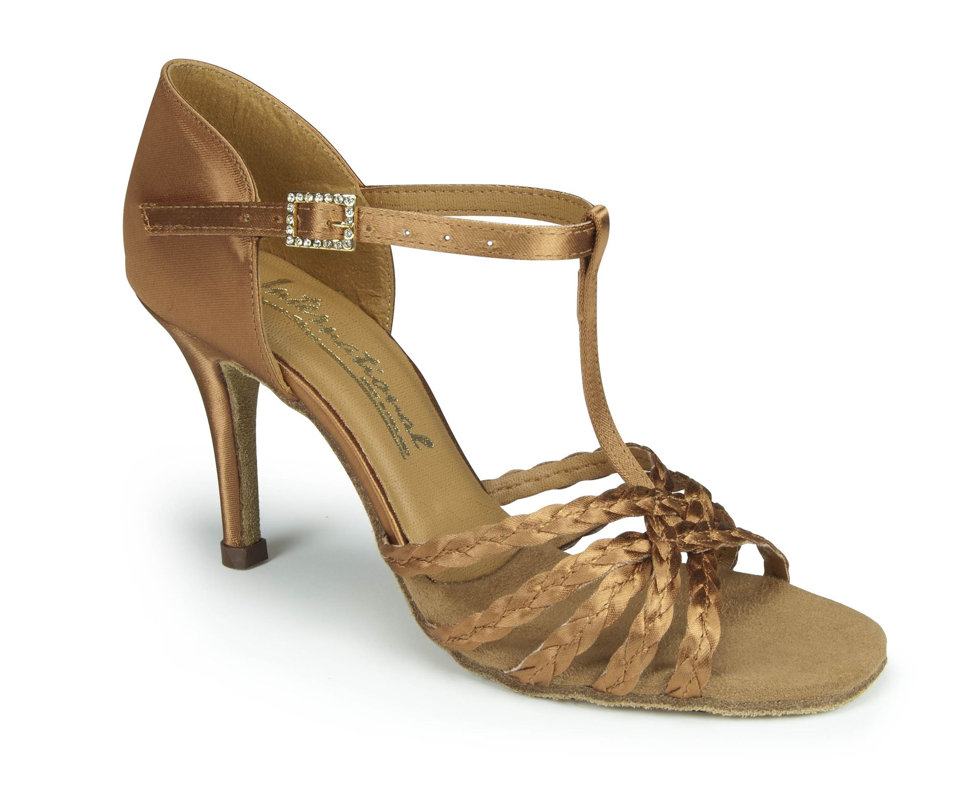 International Neeve in tan satin