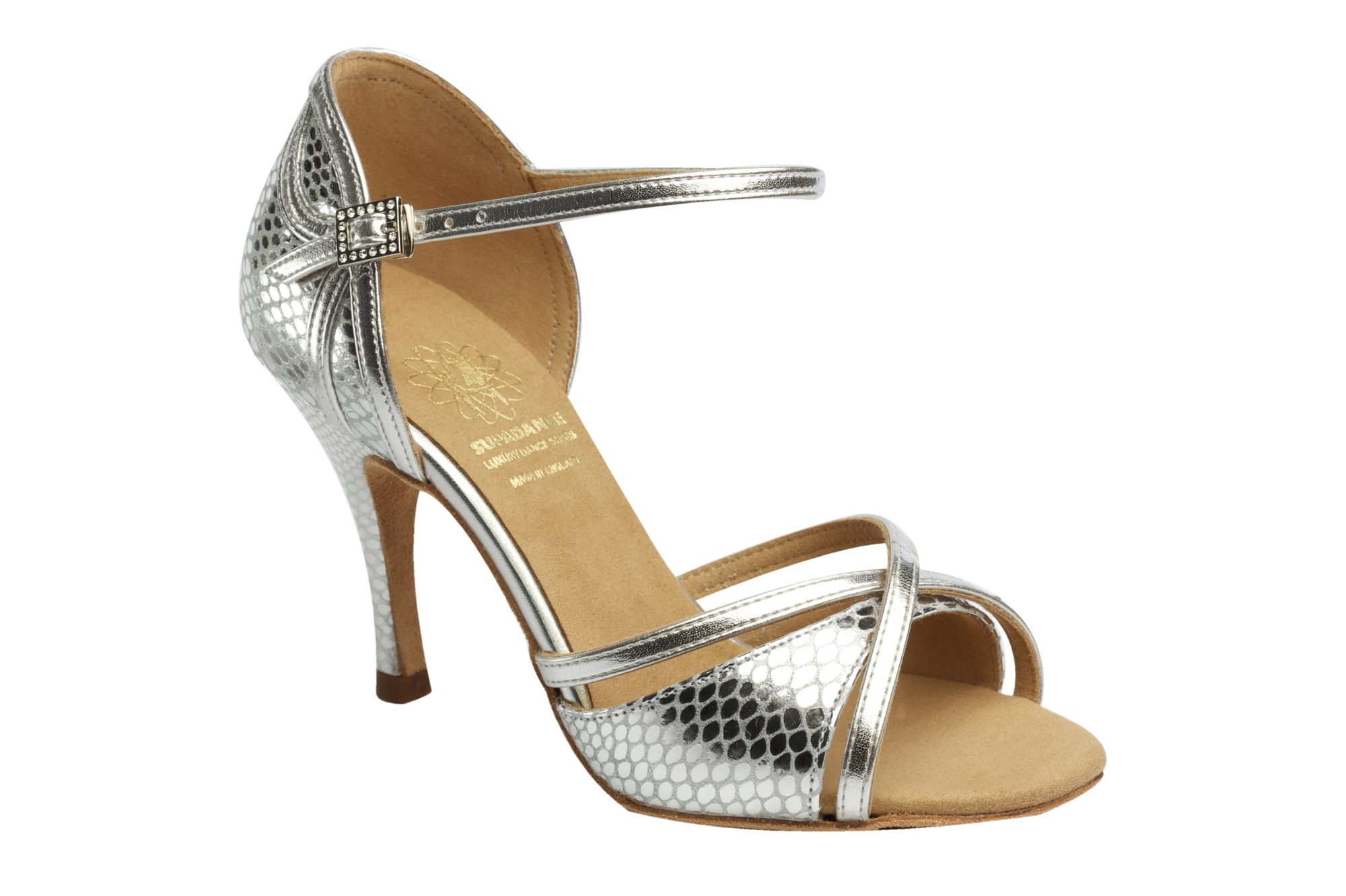1073 Silver Latin Dance Shoe