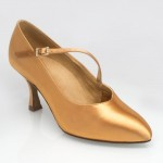 Nimbus, Standard Ballroom Shoe in Flesh Satin
