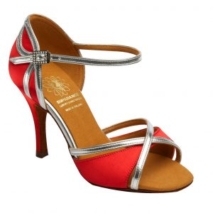 1073 Red Latin Dance Shoe