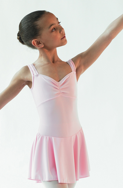 (a) Emilie Pink Leotard Dress