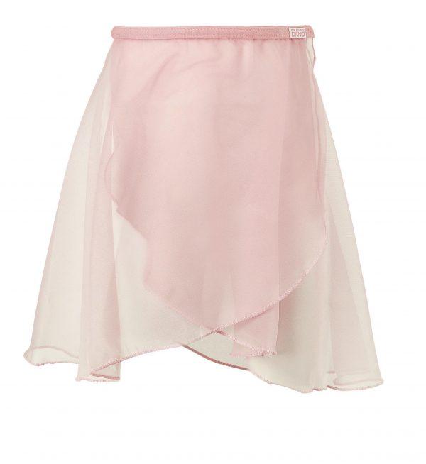 chiffon skirt in pink