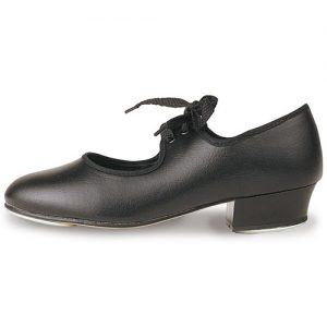 Roch Valley Low Heel tap Shoe in Black