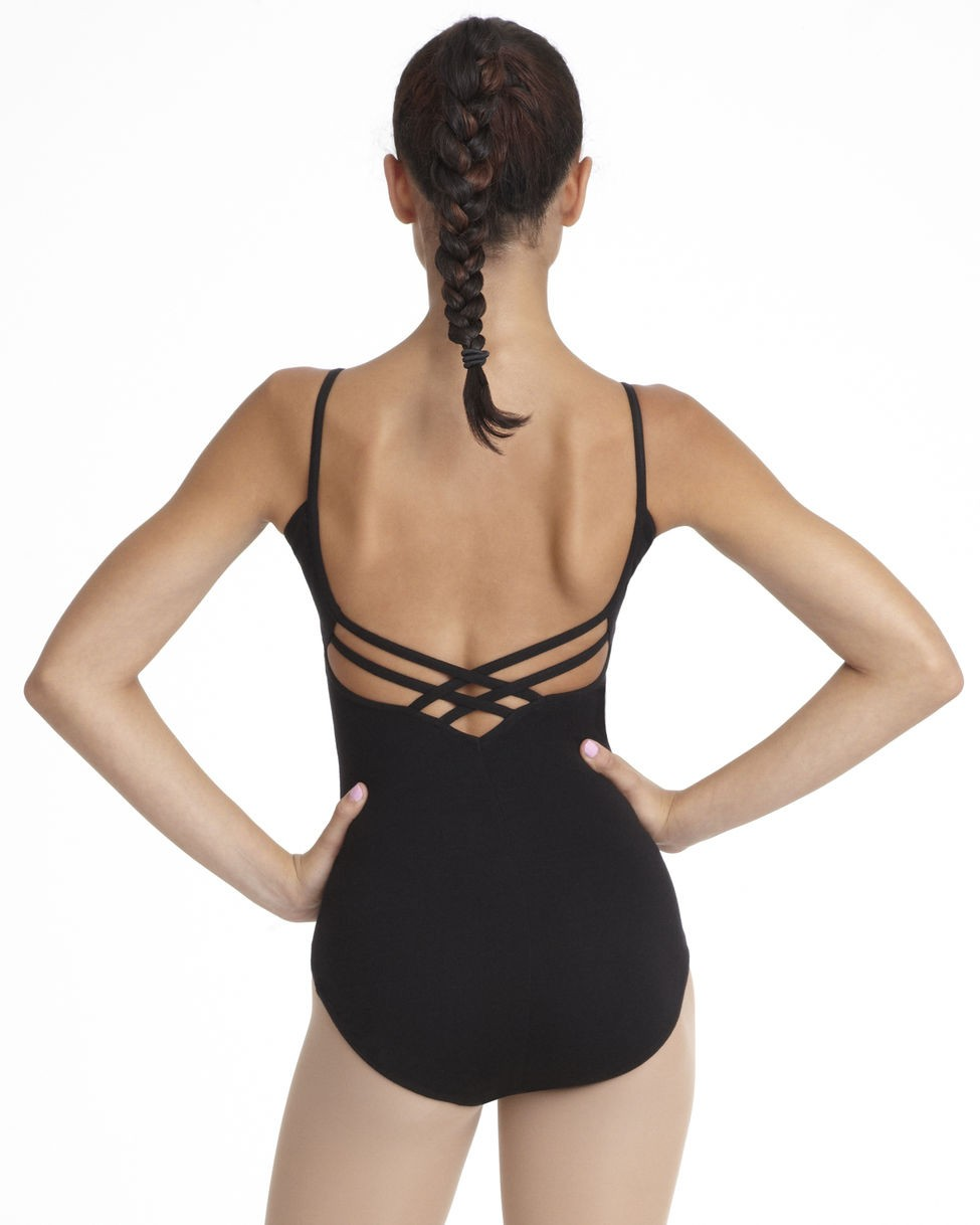 (c) Capezio CC102 Leotard in Black