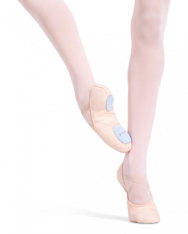 Capezio Juliet 2808 Canvas Split Sole Ballet Shoes in Ballet Pink
