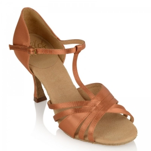 Ray Rose Medusa Light Tan Satin
