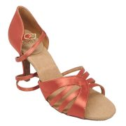 Ray Rose Eris in Dark Tan Satin