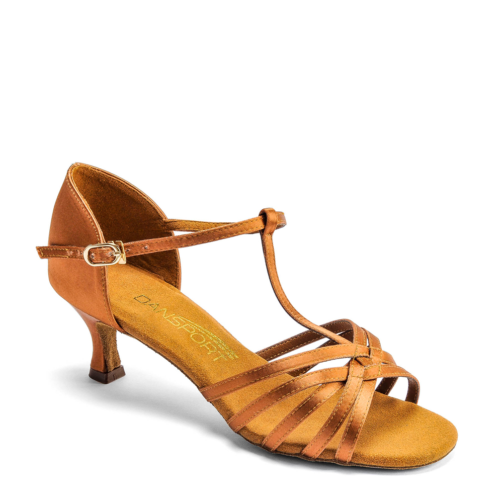 52a121be5 Dansport L3005 in Tan Satin - Duo Dance, The Dance Shoe Shop