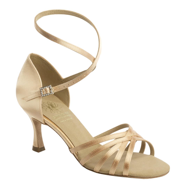 1403 Flesh Satin Dance Shoe