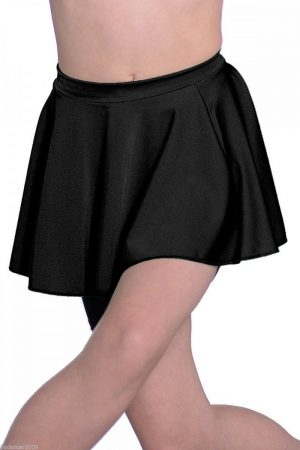 (a) Circular Lycra Skirt in Black