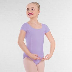 (b) Lilac short sleeved leotard for Grades 1 and 2