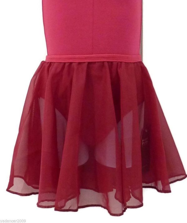 (b) Cherry/Plum Chiffon Skirt for Grade 1, Primary and Pre-Primary