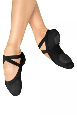 Bloch S0621L Pro Elastic Ballet shoes in Black