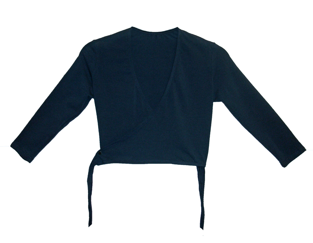 (d) Cotton Cardigan in Navy/Mulberry - Adult Sizes