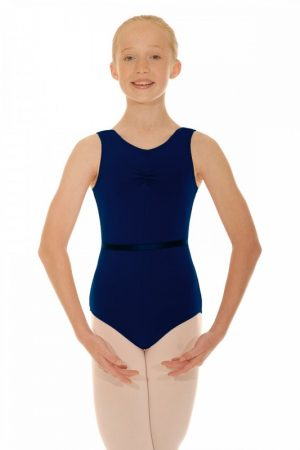 (c) Navy Leotard for Grades 3 and 4 - Adult Sizes