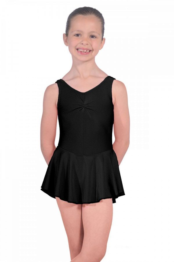 (a) Skirted Leotard in Black for First Steps and Preparatory