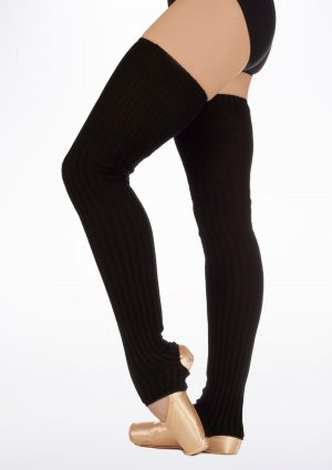 long ribbed stirrup leg warmer
