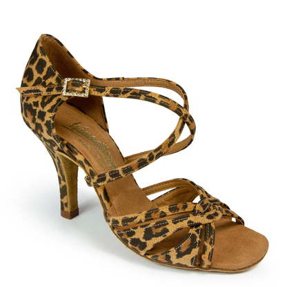 Mia Leopard Latin Shoe