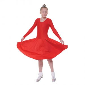 Ballroom 4 Long Sleeved Practice Dress in Standard Length