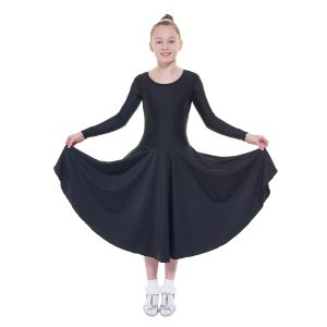 Ballroom 5 Long Sleeved Practice Dress in Longer Length