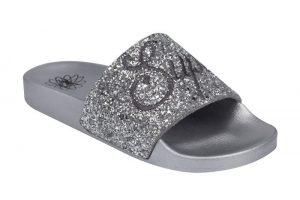 Supadance 7788 Silver Glitter Slides