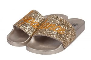 Supadance 7788 Gold Glitter Slides