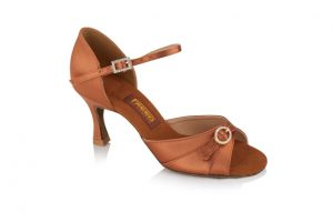 Freed Leona in Dark Tan Satin