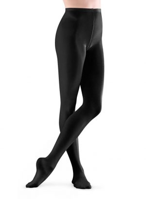 Bloch Children's T0981G Footed Tights in Black