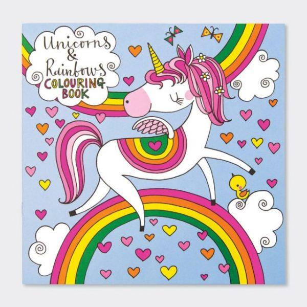 Colouring book - unicorns and rainbows