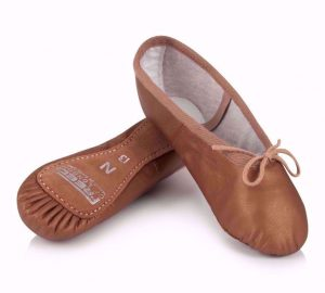 Aspire Leather Ballet Shoes in Bronze