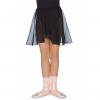 chiffon skirt in black