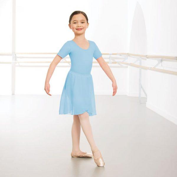 Chiffon skirt in pale blue