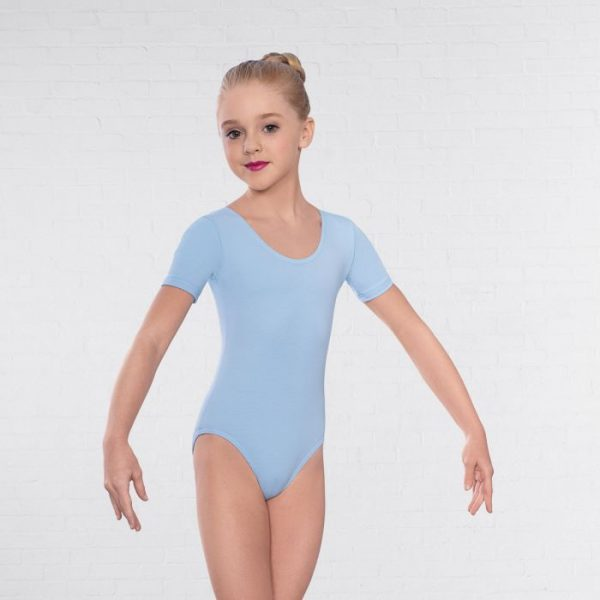 Leotard in pale blue