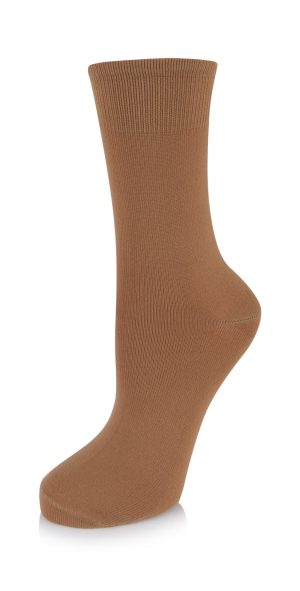 (h) Ballet Socks in Brown and Bronze