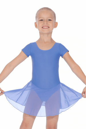 (b) RV 2383 Leotard Dress in Cornflower Blue
