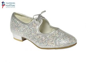 Silver Glitter Tap shoes