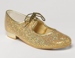Gold Glitter Tap shoes