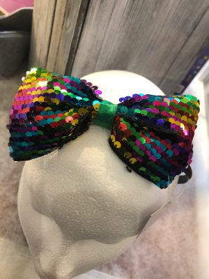 Gisela Graham Rainbow Glitter Headband